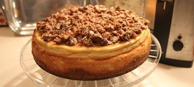NTC Caramel Almond Toffee Cheesecake